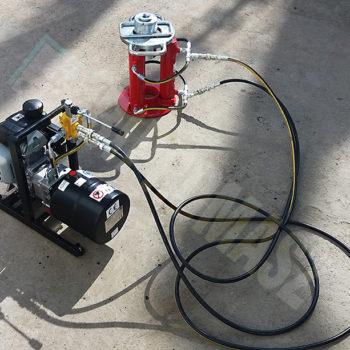 Agregat hydrauliczny przenośny HAS-2 i wyciągarka żerdzi 12 ton z zaciskiem kulowym