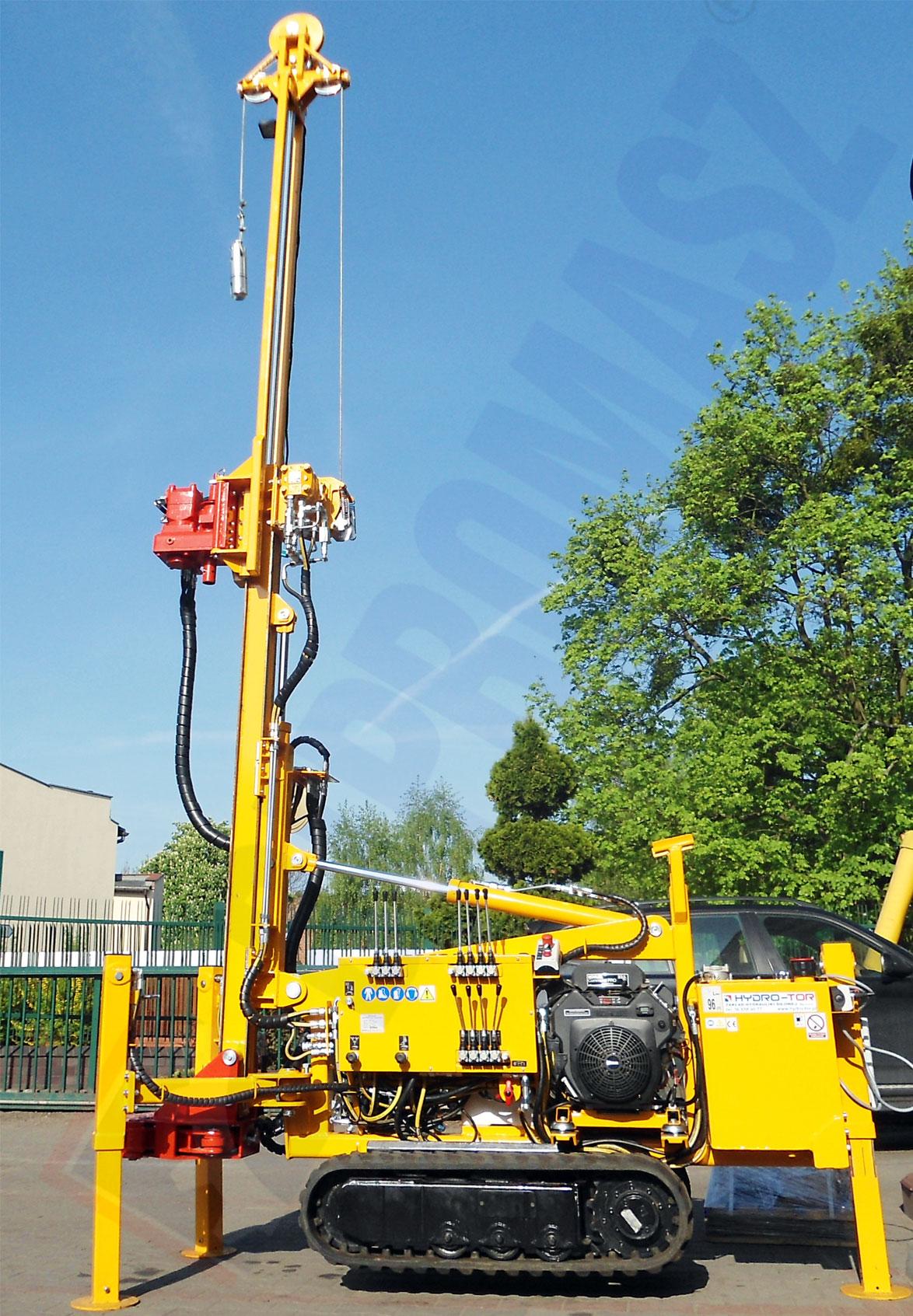 Wykonanie typu H16G/H z prowadnicą łańcuchową z posuwem hydraulicznym siłownikowym - Bipromasz