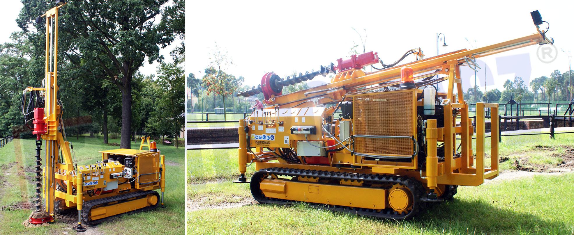 Wykonanie typu H16G/T z prowadnicą teleskopową z posuwem hydraulicznym siłownikowym - Bipromasz
