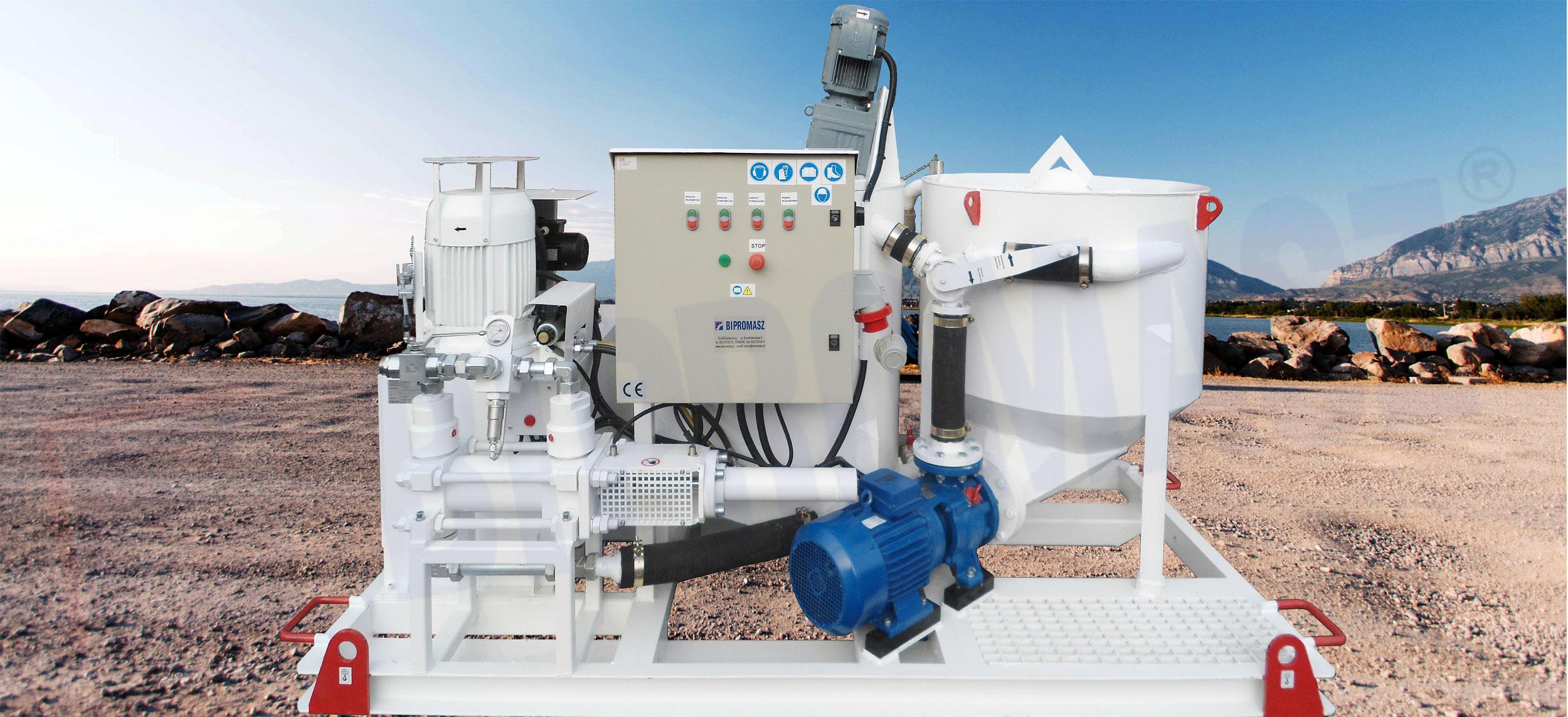 Zestaw mieszalnikowo iniekcyjny typu ZMI-100E i ZMI-100H produkcji firmy Bipromasz