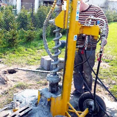 Wiertnica pionowa geotechniczna H-13 - lekkie wykonanie przenośne
