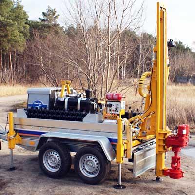Wiertnica pionowa geotechniczna H16P - na przyczepie