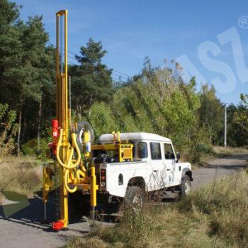 Wiertnica pionowa geotechniczna H16S - na samochodzie terenowym