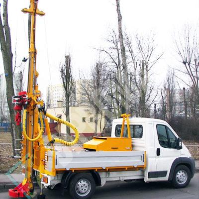 Wiertnica pionowa geotechniczna H20S - na samochodzie dostawczym DMC 3,5T