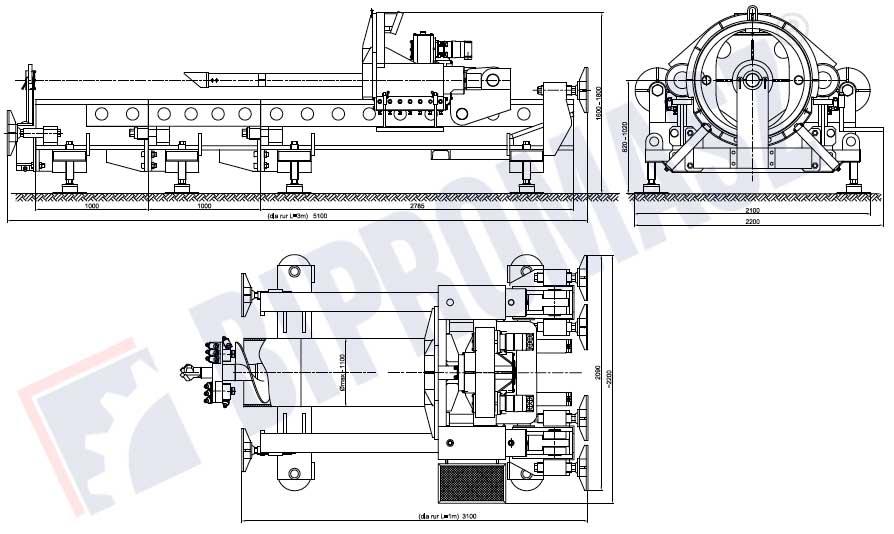 Wiertnica pozioma sterowana WPS-100 - Bipromasz