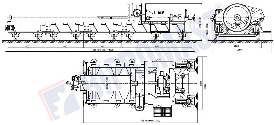 Wiertnica pozioma sterowana WPS-140 - Bipromasz