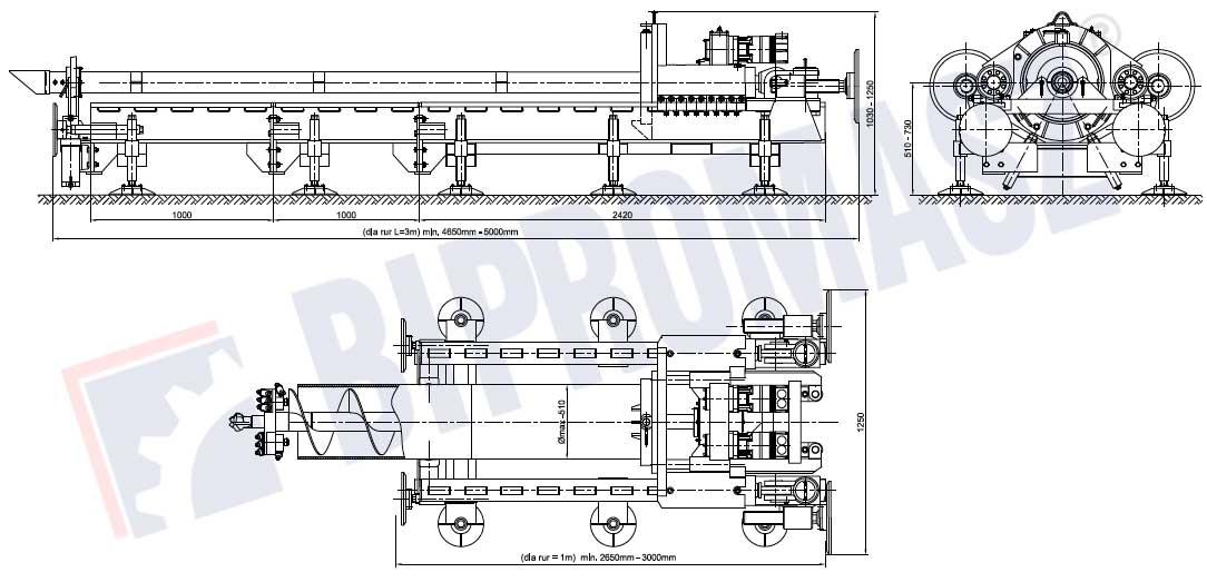 Wiertnica pozioma sterowana WPS-50 - Bipromasz