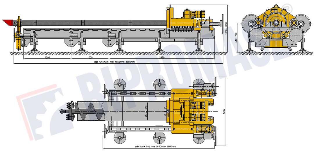 Wiertnica pozioma sterowana WPS-50 firmy Bipromasz