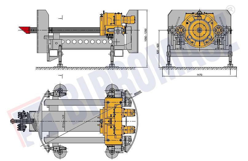 Wykonanie do studni Ø2000 – model WPS-60S