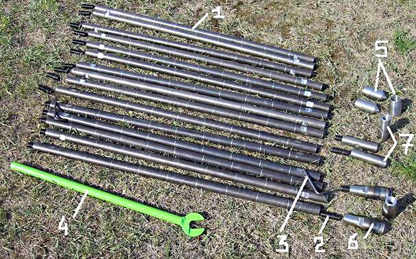 Zestaw narzędzi do badań gruntu metodą dynamiczną