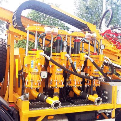 2x PPN-350 na wiertnicy samochodowej płuczkowej H30