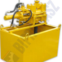 Pompa PTI-100 zabudowana na wiertnicy gąsienicowej MWG-6 do wiercenia pionowego z płuczką