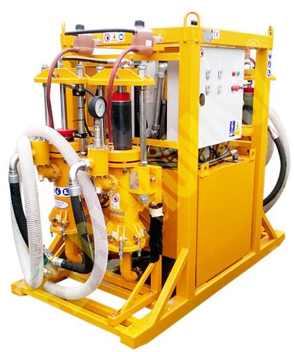 Model AIE-400 oferowany jest z dwiema pompami PPN-250 i zasilaniem o mocy 2x15kW