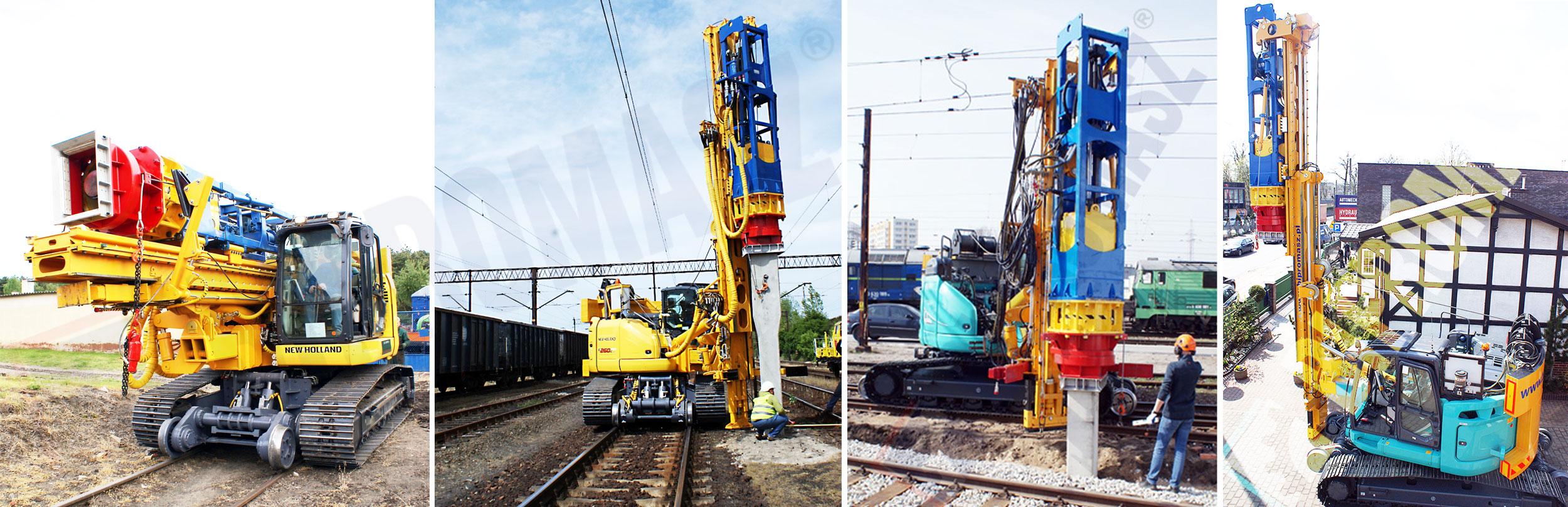 Kafar kolejowy PD-2500 produkcji firmy Bipromasz