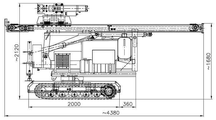 Kafar samojezdny KB-3G wersja ze skokiem 3300 w położeniu transportowym