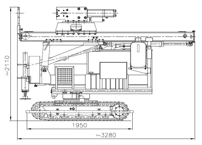 Kafar samojezdny KB-3G w położeniu transportowym