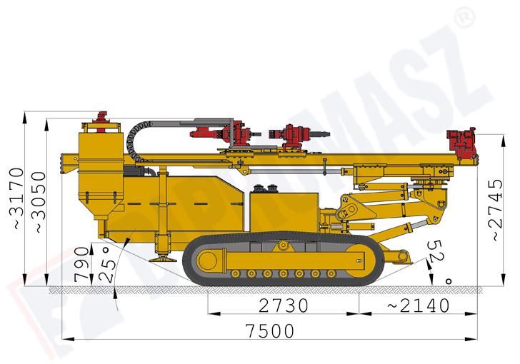 SWK200 – samojezdna wiertnica kotwiarka – rysunki techniczne