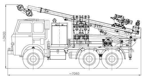 Wiertnica do pomp ciepła i studni H30S - na samochodzie ciężarowym