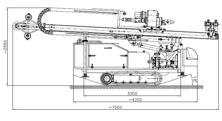 Wiertnica do pomp ciepła i studni H30G - na podwoziu gąsienicowymq