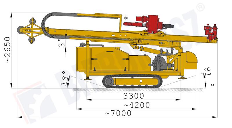 Wiertnica do pomp ciepła i studni H30G - na podwoziu gąsienicowym