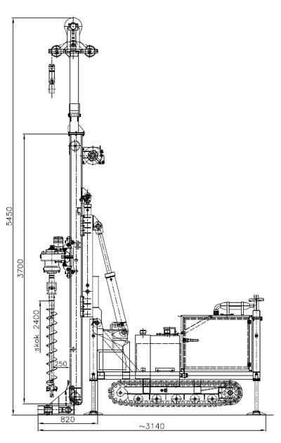 Wiertnica pionowa geotechniczna H25G - na podwoziu gąsienicowym (MWG6)