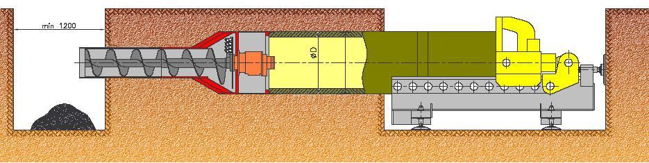 Poszerzacz hydrauliczny - rysunek poglądowy