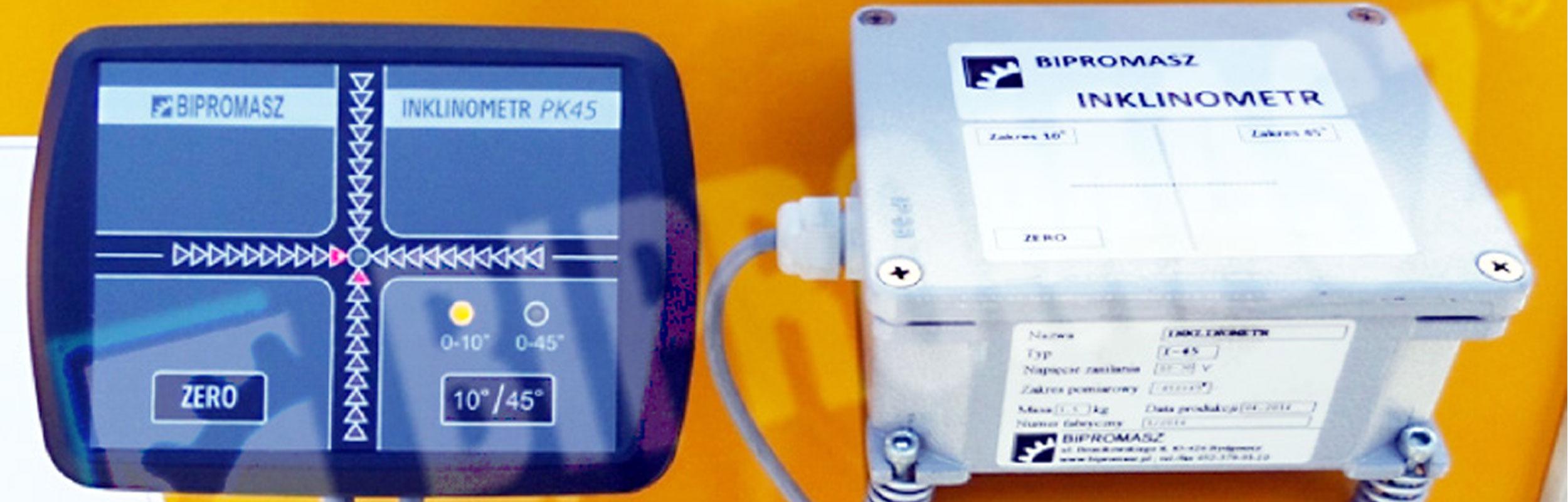 nklinometr – elektroniczna kontrola pionowości i poziomu firmy Bipromasz