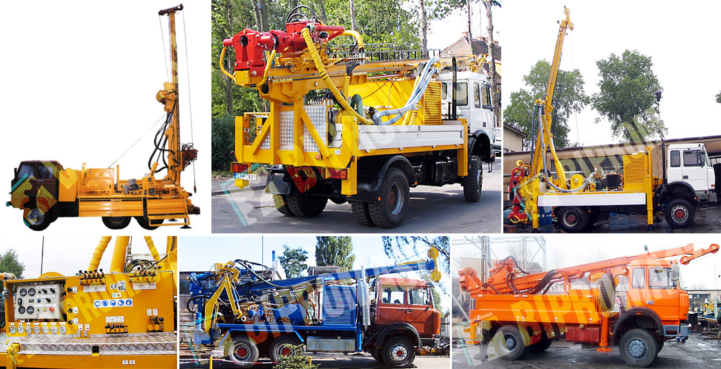 Wiertnica do pomp ciepła i studni H35S – na samochodzie ciężarowym – przykładowe realizacje