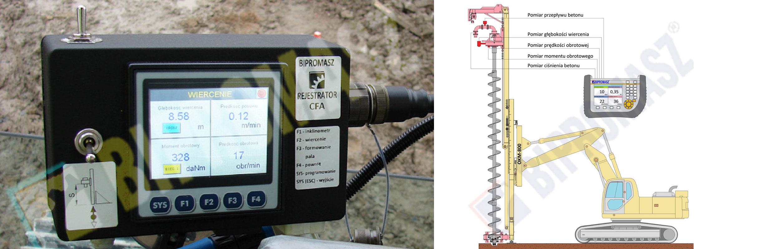 Wiertniczy system pomiarowo-rejestrujący produkcji firmy Bipromasz