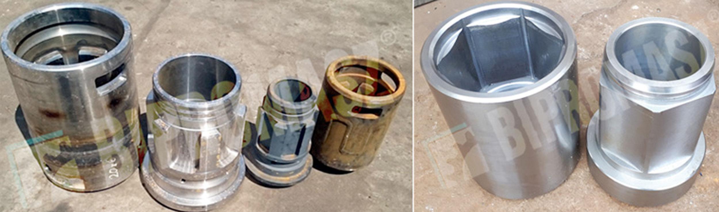 Złącza, czopy i mufy do narzędzi wiertniczych i palownic produkcji firmy Bipromasz