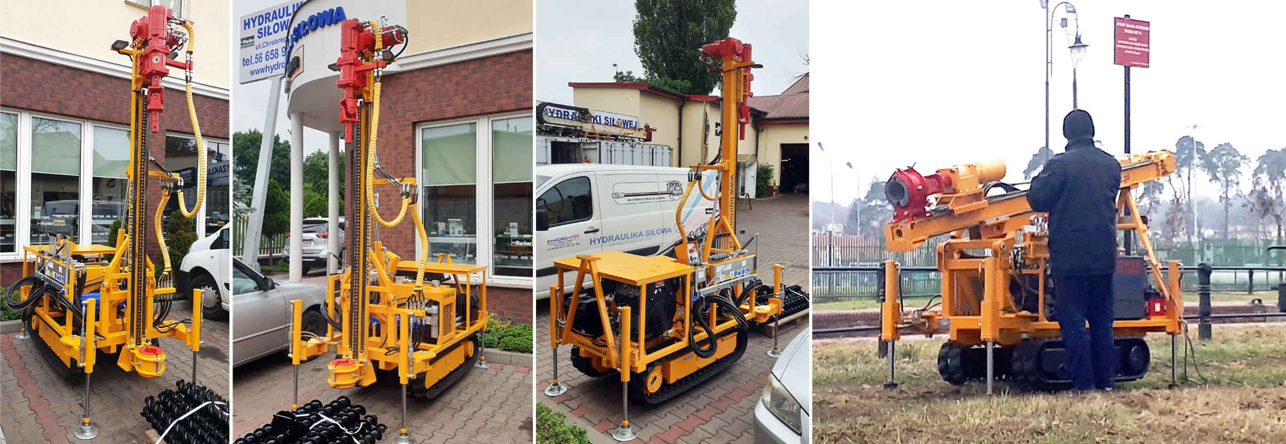 Lekka wiertnica gąsienicowa LWG-16 produkcji firmy Bipromasz - galeria zdjęć