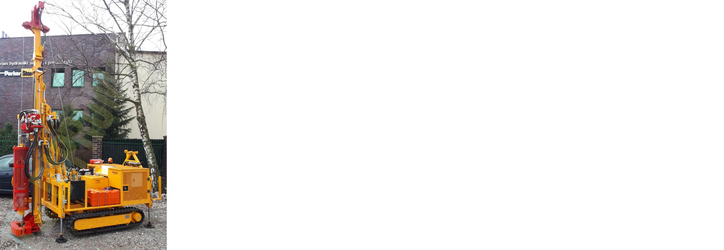 Małogabarytowa wiertnica gąsienicowa typ MWG-4